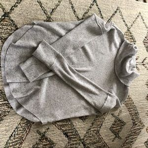 GREY TNA waffle turtleneck long sleeve